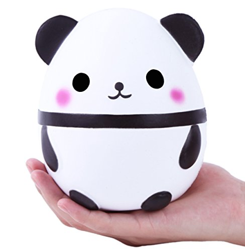 AOLIGE Jumbo Cute Panda Kawaii Cream Scented Squishies Very Slow Rising Kids Toys Doll Gift Fun Collection Stress Relief Toy Hop Props, Decorative Props (Fun Halloween Food Games)