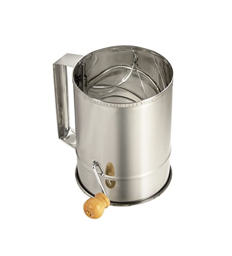 Paderno World Cuisine Stainless Steel Sifter with Crank Handle by Paderno World Cuisine