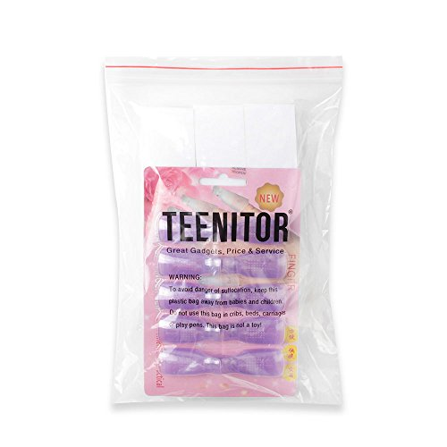 Teenitor UPGRADE Nail Cap Clips UV Gel Polish Remover Wrap Purple 10 Pack With 495 Pack Lint Free Nail Wipe Cotton Pads