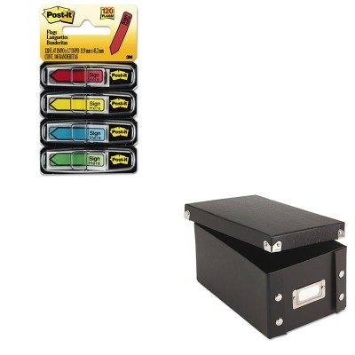 KITIDESNS01577MMM684SH - Value Kit - Snap-n-store Snap 'N Store Collapsible Index Card File Box Holds 1 (IDESNS01577) and Post-it Arrow Message 1/2amp;quot; Flags (MMM684SH)
