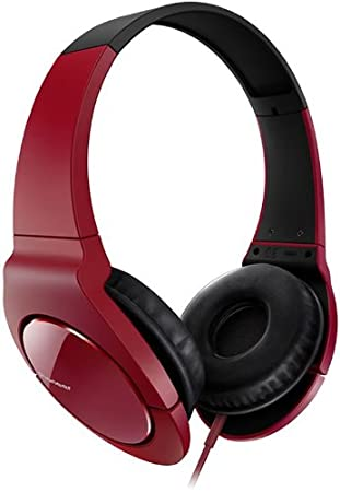ad9fdd93e88 Pioneer SE-MJ721-R Fully Enclosed Dynamic Headphones: Amazon.co.uk:  Electronics