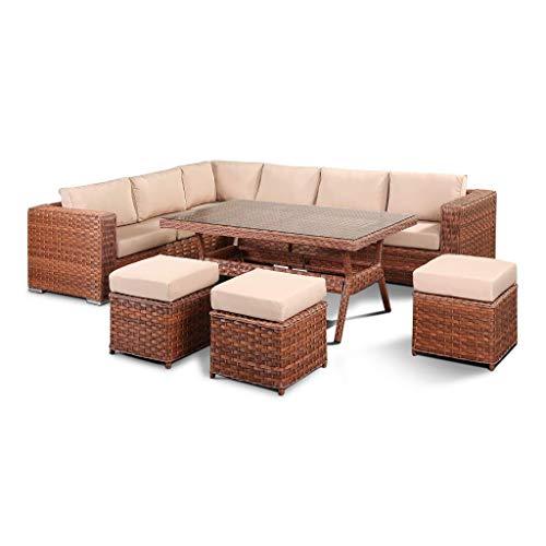 Club Rattan Isobella 9 Seater Corner Sofa Set Astonshedsuk