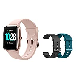 MCNNADI Smart Watch Fitness Tracker [with 2 Extra Bands/Straps] Heart Rate/Sleep Monitor & Stress Control, Activity…