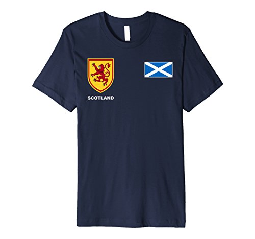 Mens Scotland Scottish Rugby Jersey Tees Large Navy