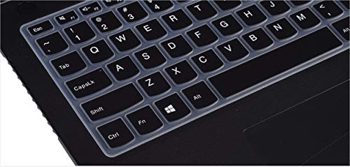 Saco Chiclet Keyboard Skin for Lenovo G500 59-370339 Laptop 15.6-inch Laptop - Black with Clear