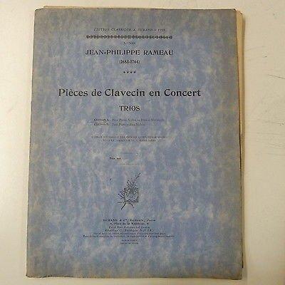 (RAMEAU trios , flute / violin cello piano)