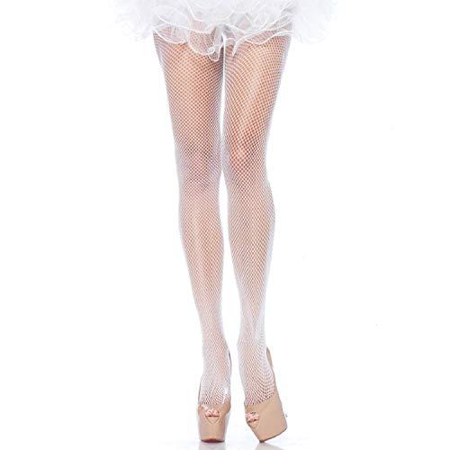 Leg Avenue Women's Plus Size Nylon Fishnet Tights, White