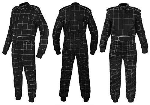 Sparx Sports Go Kart Racing Cart Karting Suit Black (Large) (Go Kart Sport)