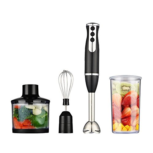 Homeleader Immersion Blender, Smart Stick Variable Speed 3-In-1 Hand Blender, Multifunctional Food Processor, Stainless Steel Handheld Mixer, 400W