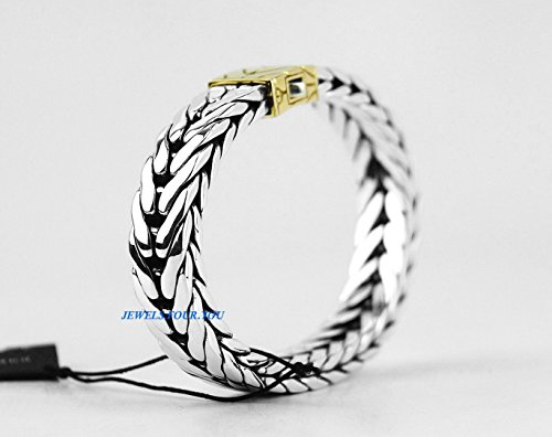 John Hardy Sterling Silver Amp 18k Solid Gold Braided