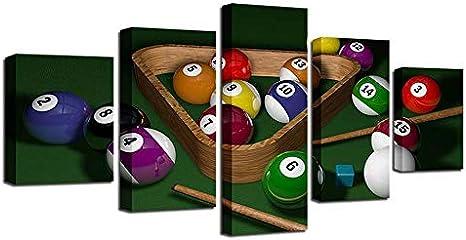 CYYCY 5 Conjunto decoración del hogar Pintura Chorro de Tinta Deportes Billar Bar Entretenimiento artesanía Pintura Cartel A: Amazon.es: Hogar