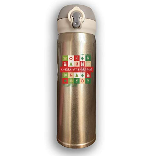 AUUOCC Bounce Cover Design Have Yourself a Merry Little Christmas,Leak-Proof Vaccum Cup,Travel Mug With Stainless Water Bottle,Sports Drinking Bottle Fashion
