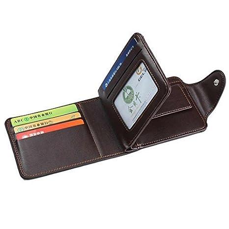 Cyber de lunes Deals 2017-valentoria ® Cartera de cuero hombres tarjetas de crédito ID