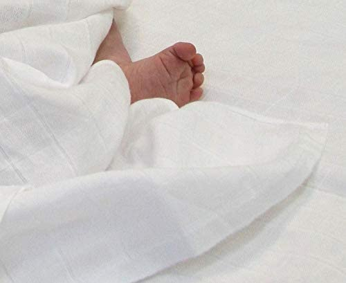 MuslinZ 120 cm, bamb/ú//algod/ón org/ánico Pa/ñales de muselina para beb/é dise/ño de hojas de coral