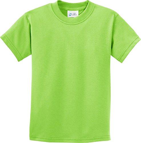 (Port & Company Boys' Essential T Shirt L Lime)