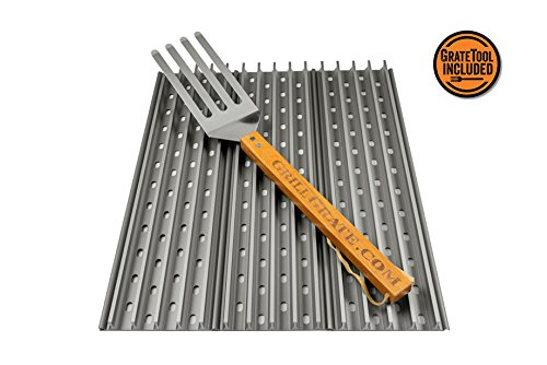 GrillGrate Pellet Grill Sear Stations (six sizes available) + The GrateTool (19.25'') by GrillGrate