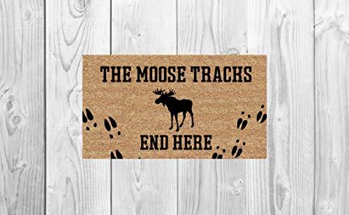The Moose Tracks End Here Doormat ()