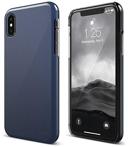 elago Slim Fit 2 Series iPhone Xs, iPhone X Case - Durable Scratch Resistant Coat Minimalistic Designed Protective Cover for Apple iPhone Xs(2018), iPhone X (2017) (Jean Indigo)