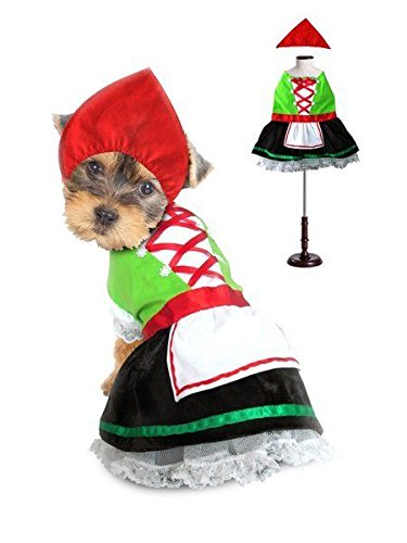 Alpine Costumes For Dogs Octoberfest Bavarian Beer Maiden Costume Or Swiss Boy (Size 1 Alpine Girl Costume) -
