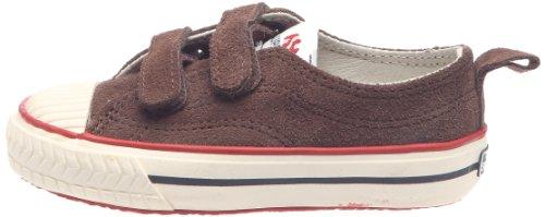 Superga 298 Suvj - Zapatillas de cuero para niños, color marrón, talla 26 Marrón (Braun)