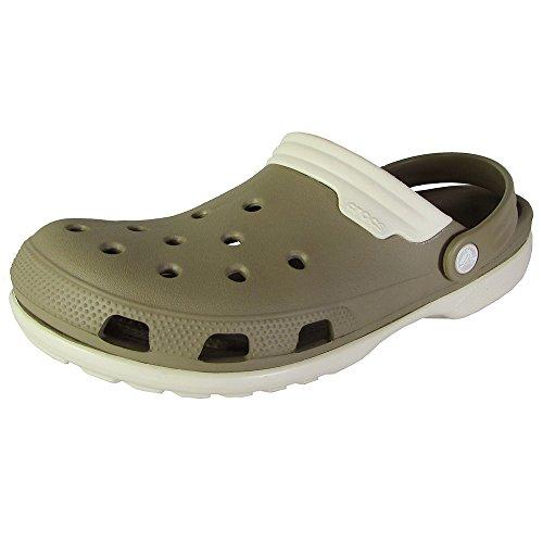 Crocs Mens Duet Slingback Clog Sandal Shoes, Khaki/Stucco, US (Crocs Sling)