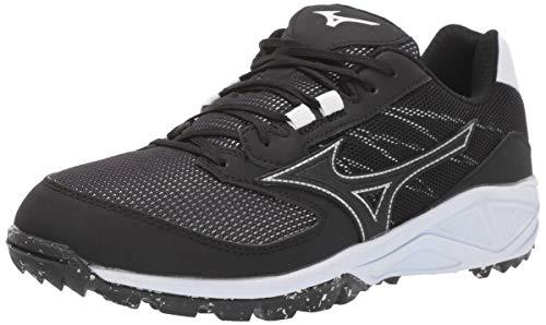 MIZUNO DOMINANT  AS WOMENS 8 Black/White (Shoes Softball Turf)