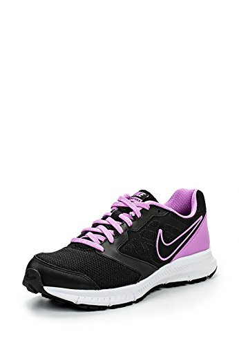 NIKE DOWNSHIFTER 6 WOMEN'S RUNNING SHOES - BLACK/BLACK-FUCHSIA GLOW-WHITE -