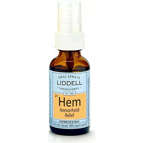 Liddell Hemorrhoid Relief Homeopathic Spray