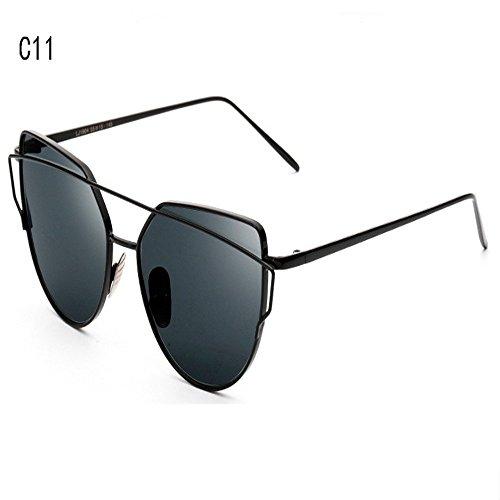 Gradient Sol de Mujer Lentes K con Sol Ocean de C Yukun Gafas para de Completa sol Montura Gafas Lens Uv400 1C5xq6nwp