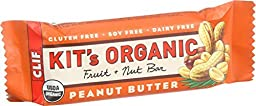 Clif Kit\'s Organic Fruit and Nut Bar - Peanut Butter - Case of 12 - 1.76 oz Bars