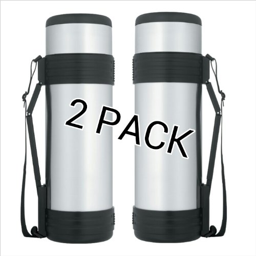 Thermos Nissan 61 Ounce Stainless Steel Bottle with Folding Handle (2) by Thermos