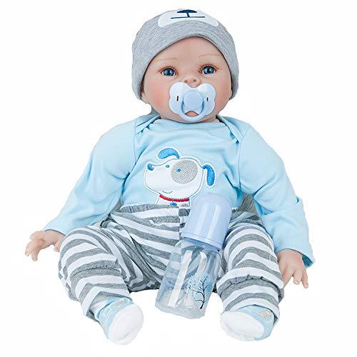 AFYH Simulation Doll Reborn Baby,Simulation Children's Doll - Rebirth Doll - Realistic Baby Companion - Colección de arte 55cm - Dé a su hijo un precioso Regalo. by AFYH (Image #7)