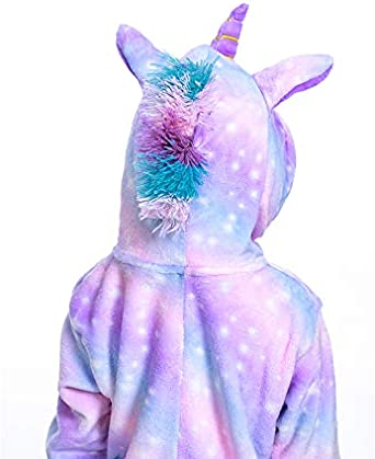 Kids Unicorn Onesie Animal Pajamas Halloween Cosplay Costume Gift