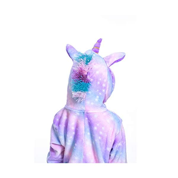 FuRobes Kids Unicorn Onesie Pajamas,One Piece Children Cosplay Animal Costume Halloween Sleepwear for Girls and Boys Gift 4