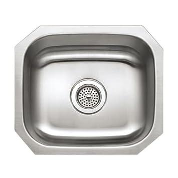 Charming Proflo PFUC109 16u0026quot; Single Basin Undermount Stainless Steel Kitchen Sink,  Stainless Steel
