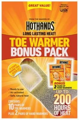 Long Lasting Safe Natural Odorless Air Activated Warmers 6 Pair 2 PACK HotHands Toe Warmers Up to 8 Hours of Heat