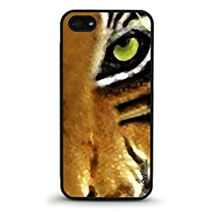 Eye of the Tiger Design Rubber Case for Apple iPhone 5-5s-Made in USA [Non-Retail Packaging]