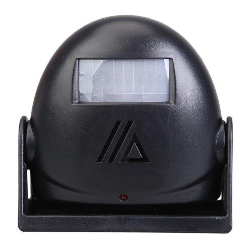 Welcome Chime Motion Sensor 10m Warning Door Bell Alarm (Black) - 1