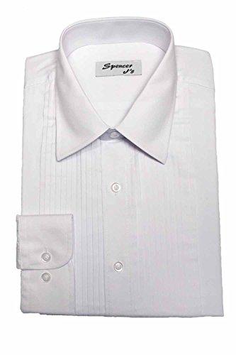 Spencer J's Tuxedo Shirt White Laydown Collar 1/4
