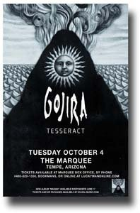 Gojira Poster - Band 11 x 17 Concert Promo on the Magma Album Tour -- AZ