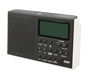 gpx portable am fm shortwave radio digital alarm clock speaker battery operated. Black Bedroom Furniture Sets. Home Design Ideas