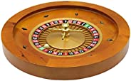 Ovalyon Casino Wooden Roulette Wheel with Bearings