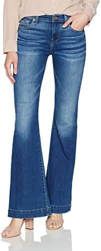 7 For All Mankind Women's Dojo Trouser Leg Jean With Tonal