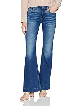 Amazon.com: 7 For All Mankind Women's Dojo Trouser Leg Jean With ...