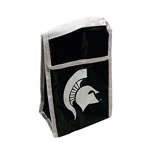 NCAA Michigan State Spartans Big Logo Velcro Lunch Bag, (Michigan State Spartans Big Game)