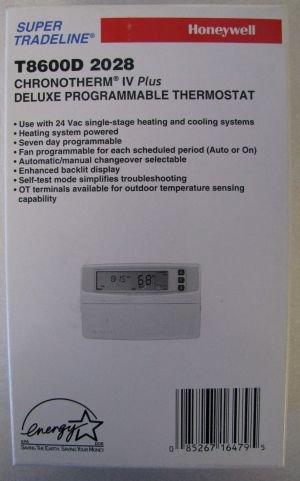 honywell t8600d2028 chronotherm iv programmable thermostat rh amazon com honeywell chronotherm iv user manual honeywell chronotherm iv plus owner's manual