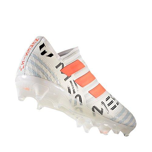 Adidas Nemeziz Messi 17+ Tacchetti Da Calcio Da Uomo Firm White Bianco / Arancione Solare