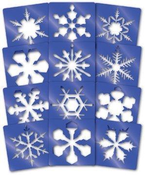 Roylco Plastic Stencil - Roylco Super Snowflake Stencils (12 Per Pack)