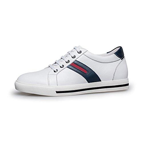 Zro Menns Uformelle Blonder-up Sneaker Heis Sko Hvit ...