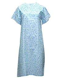 Personal Touch Women's Big Size Adaptive Poly/Cotton Backwrap Gown - 3XL
